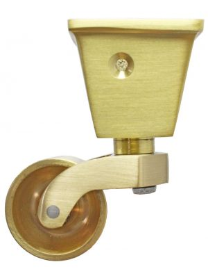 Satin Brass Castor Square Cup