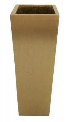 Jackson Tall Satin Brass Square Slipper Cup