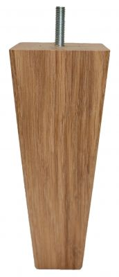 Olivia Solid Oak Vierkant Tapered Bank Benen